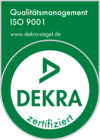 We are certified according to ISO 9001:2015