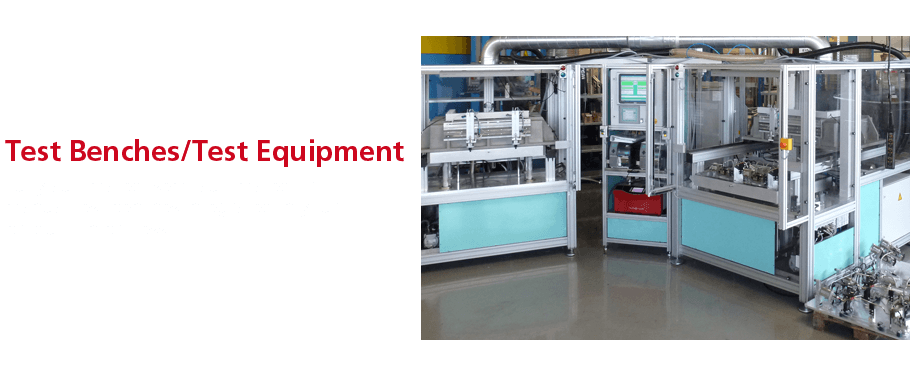 Fully automated, semi-automated or manual test benches integrated in your production process